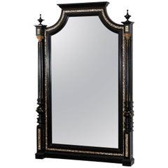 Massive Ebonized Makart Mirror, Austria circa 1880