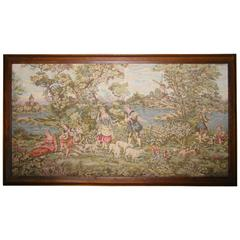Antique 19th Century Aubusson Style French Tapestry