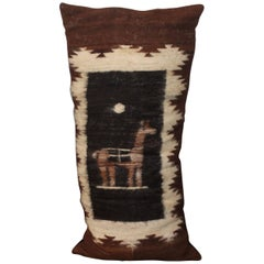 Fantastic Peruvian Indian Lama Lambs Wool Bolster Pillow