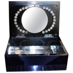 Art Deco Light-Up Vanity Mirror Dresser Box