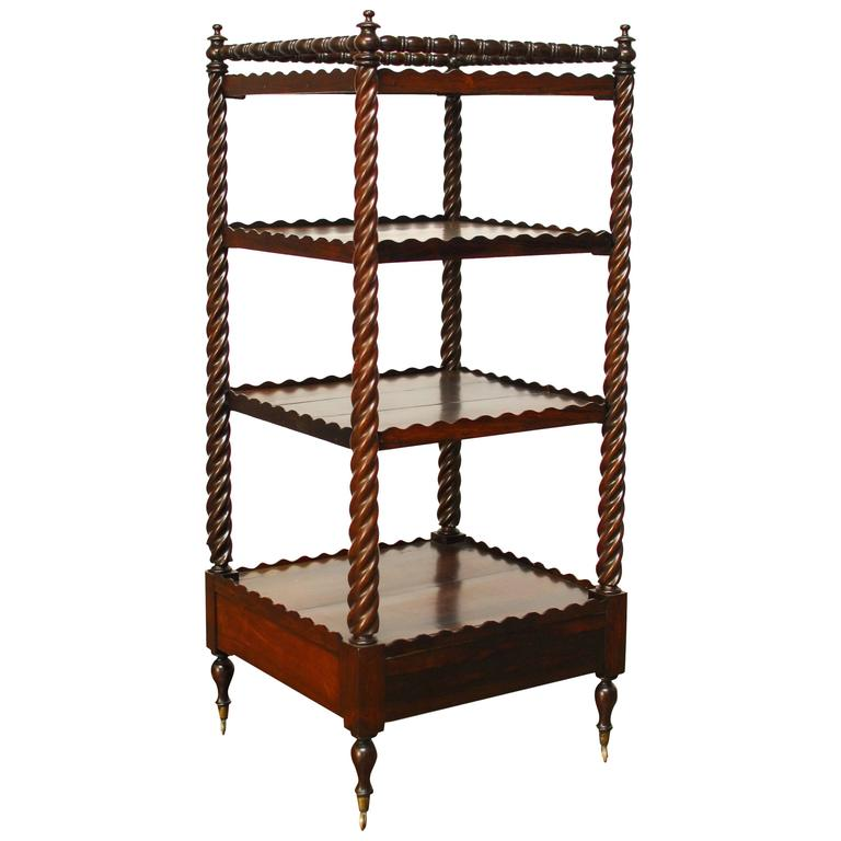 19th century english regency mahogany tag re for sale at 1stdibs - Etagere cases carrees ...