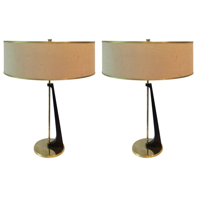mid century modern table lamps in sculptural wood form circa 1950 at 1stdibs. Black Bedroom Furniture Sets. Home Design Ideas