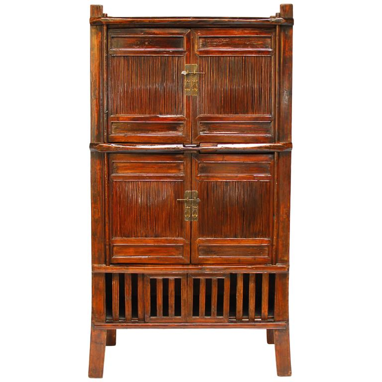 Chinese bamboo kitchen cabinet at 1stdibs for Bamboo kitchen cabinets