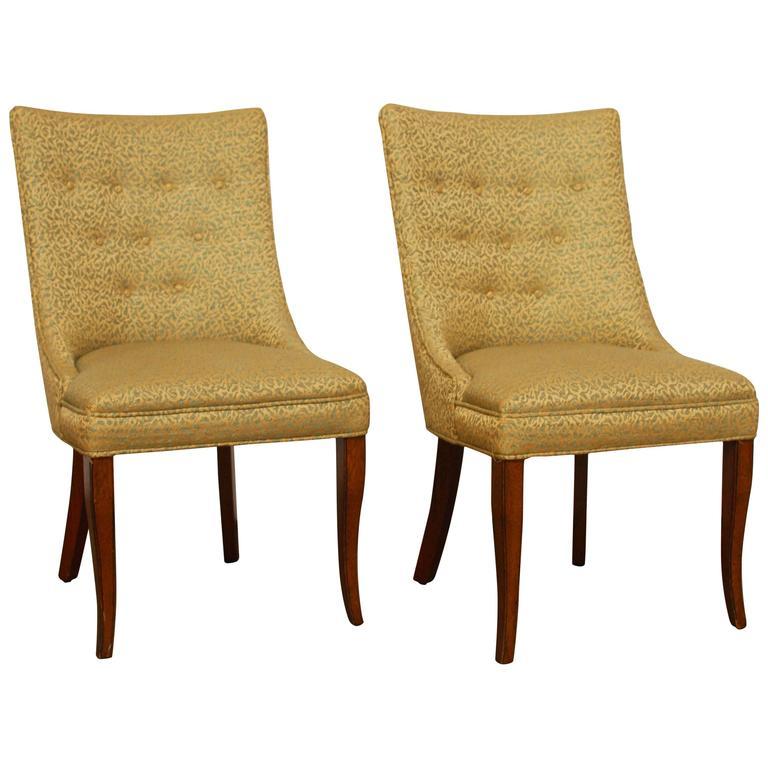 W.J. Sloane Mid-Century Scoop Back Chairs
