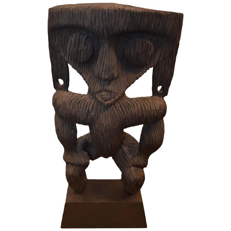 Andrianna Shamaris Iron Wood Modang Sculpture