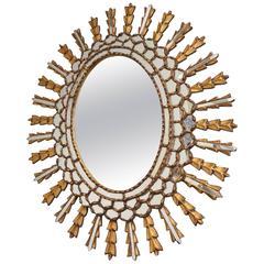 European Oval Gilt Mirror