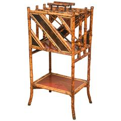 19th Century English Bamboo Canterbury