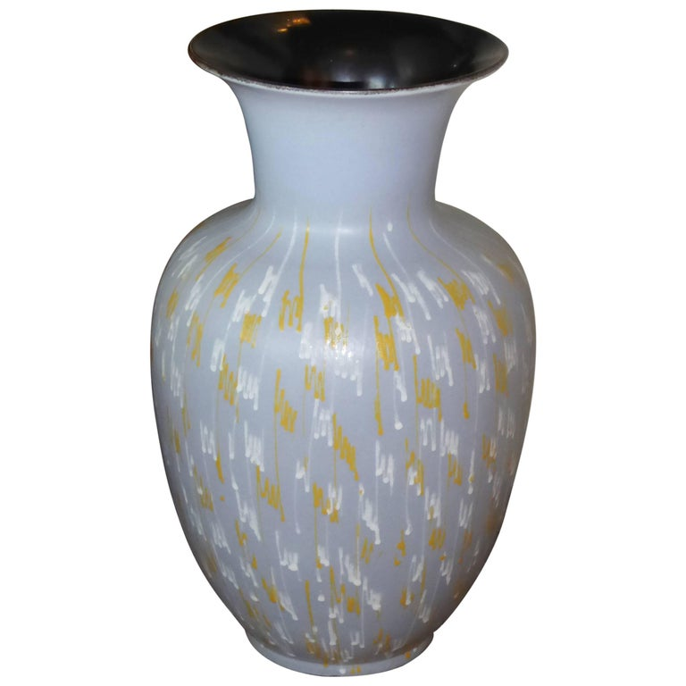 Large Carstens 1956 Pottery Floor Vase Germany For Sale