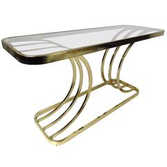 Modern Brass Console Table
