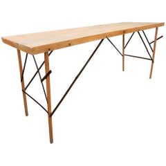1930s Industrial Wallpaper Hangers Folding Table or Desk