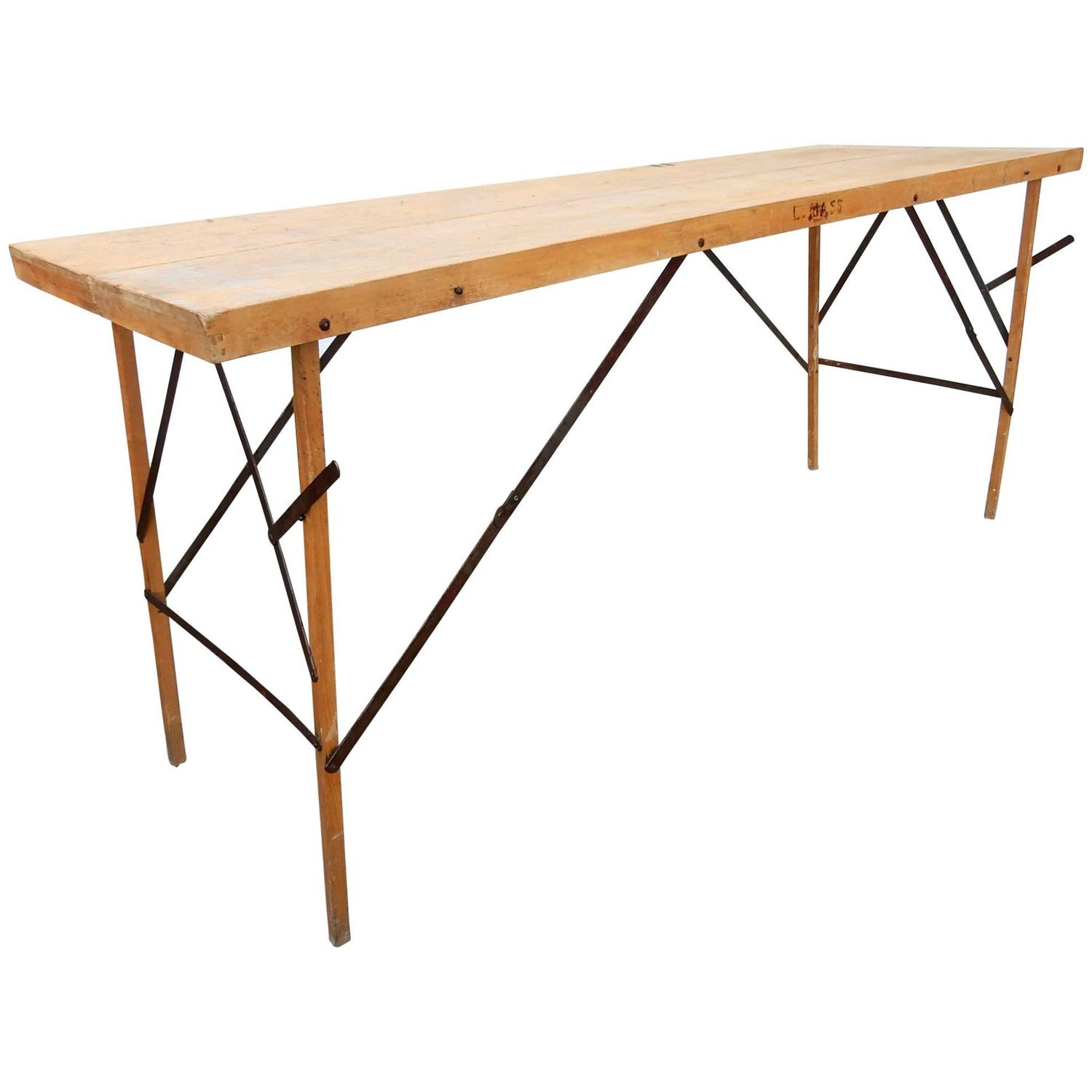 1930s Industrial Wallpaper Hangers Folding Table or Desk For Sale