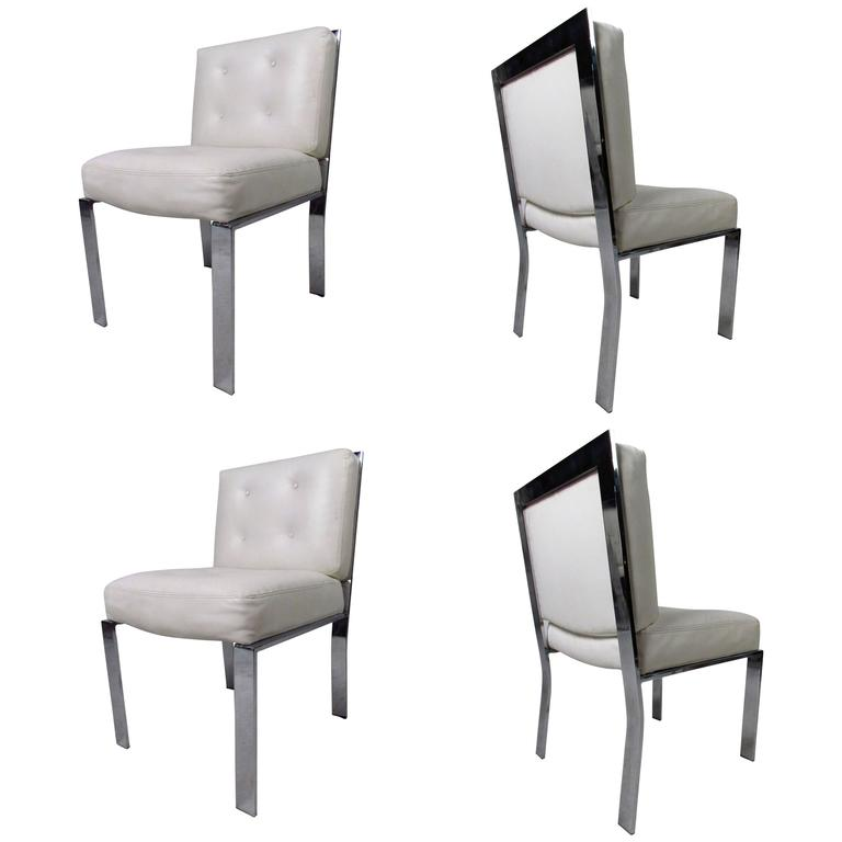 Set of Four Mid-Century Milo Baughman Dining Chairs