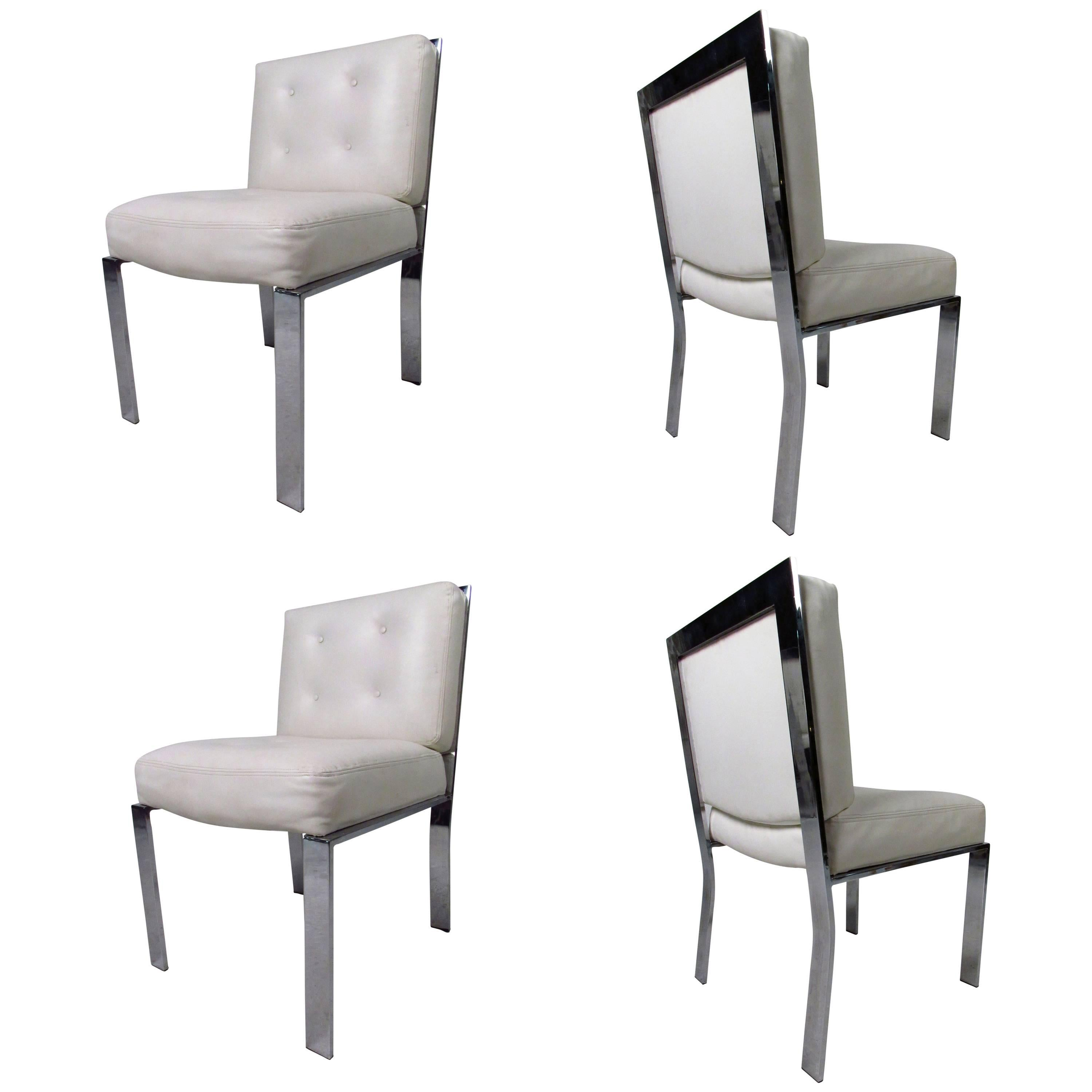 Mid-Century Modern Dining Chairs attributed to Milo Baughman