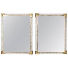 Italian Pair of Murano Mirrors by Ongaro e Fuga