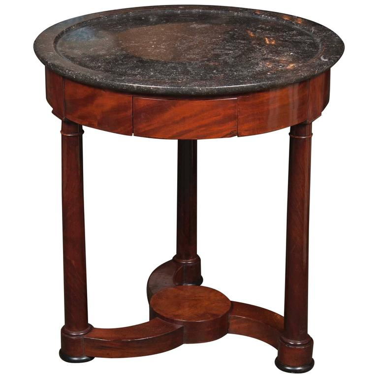 Marble Top Gueridon Table
