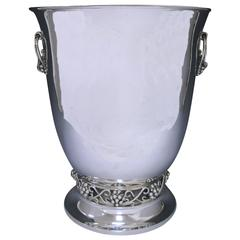 20th Century Mexican Silver Wine Cooler Made by Codan in Scandinavian Style