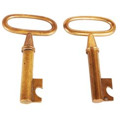 Key and Cork Screw by Carl Aubock