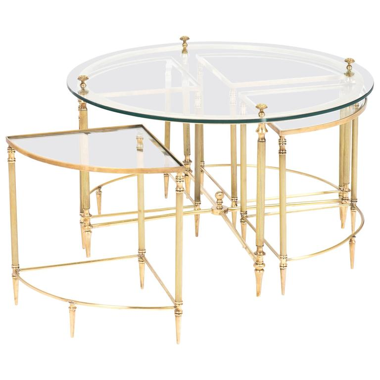 French Neoclassic Nesting Coffee And Side Tables Set At 1stdibs