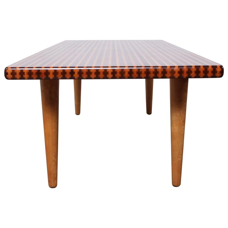 Maple And Walnut Coffee Table By Nk Design Studios At 1stdibs