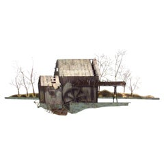 Curtis Jere Mill House Wall Sculpture, Signed