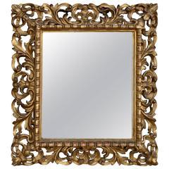 Venetian Carved Giltwood Mirror in Original Condition