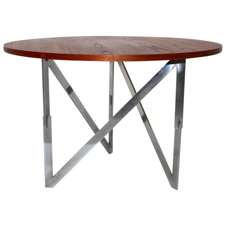 Scandinavian Modern Vintage Teak Coffee Table Aksel Bender Madsen Ejner Larsen For Sale