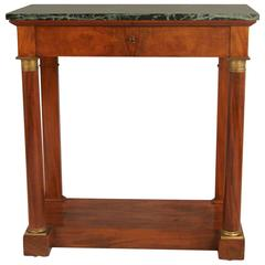 Charles X Mahogany Small Console Table