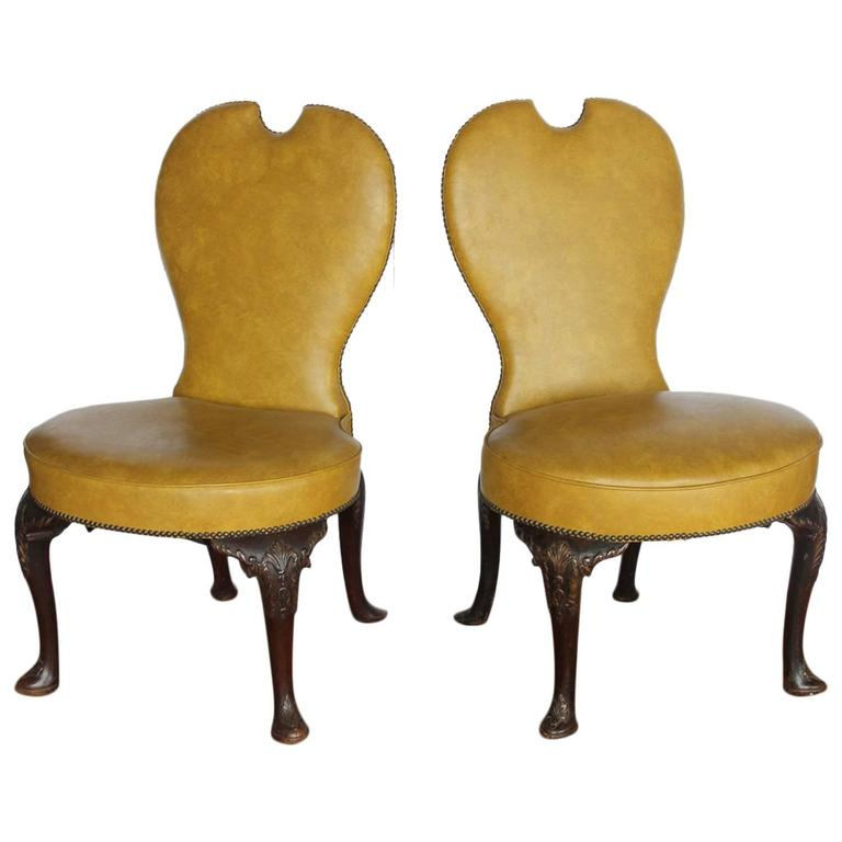 Stylish Pair Of Early 20th Century American Library Chairs For Sale At 1stdibs