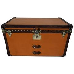 1920s Louis Vuitton Vuitonite Orange Trunk or Malle Courrier Orange