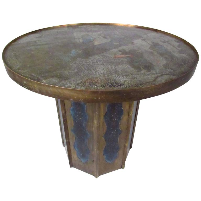 Exquisite Mid-Century Chinoiserie Style End Table by Philip and Kelvin LaVerne