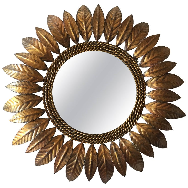 Mid-Century Modern Sunburst Mirror For Sale