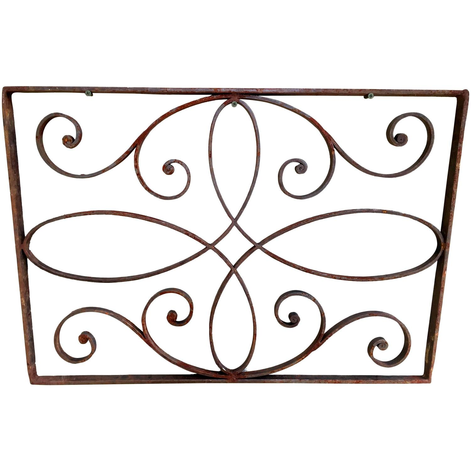 bronze and wrought iron decorative panel mirror for sale. Black Bedroom Furniture Sets. Home Design Ideas