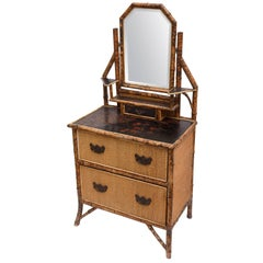 19th Century English Bamboo Dresser