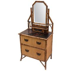 19th Century English Bamboo Dresser
