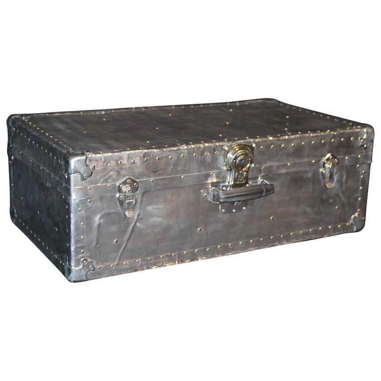 1940s Polished Aluminum Steamer Trunk At 1stdibs