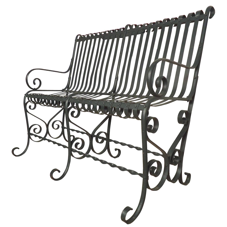 Vintage Park: Beautiful Vintage Park Bench For Sale At 1stdibs