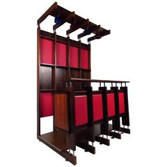 Italian Modern Wall Unit With Bar