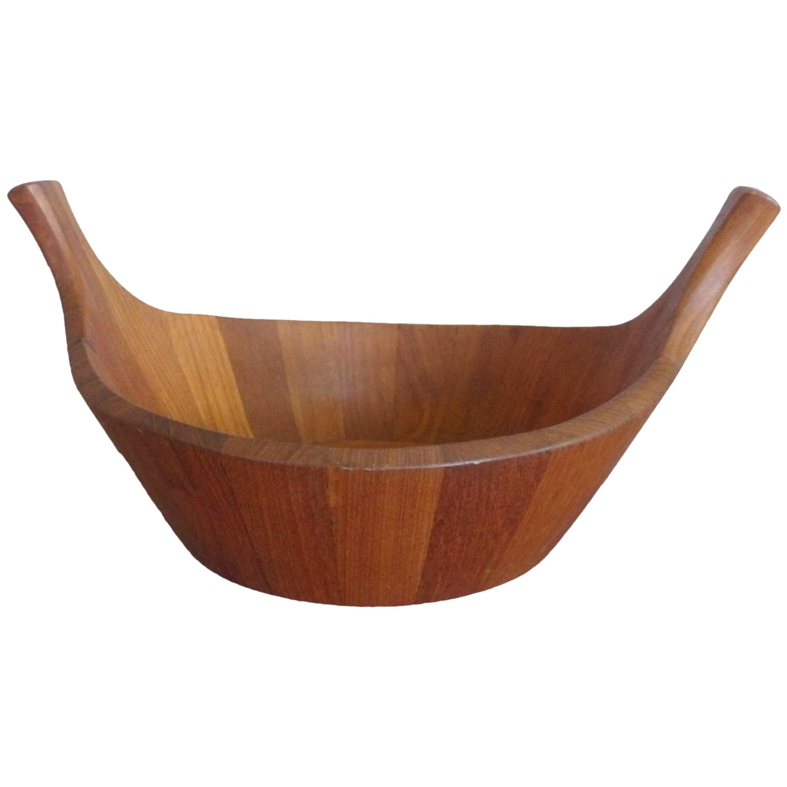 Early Production Quistgaard Dansk Staved Teak Fruit or Salad Bowl