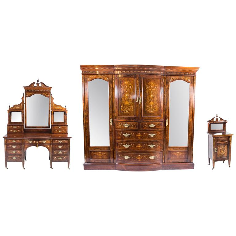 antique victorian bedroom suite by edwards and roberts circa 1880 at