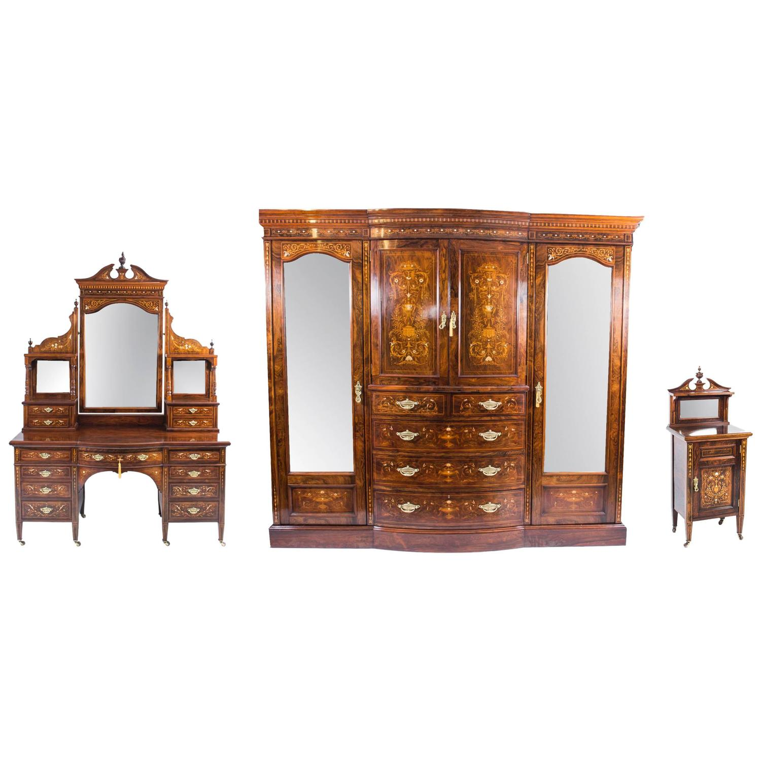 antique victorian bedroom suite by edwards and roberts