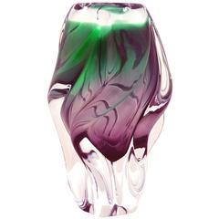 Sklo Union Chribska Glassworks Sommerso Modern Vase