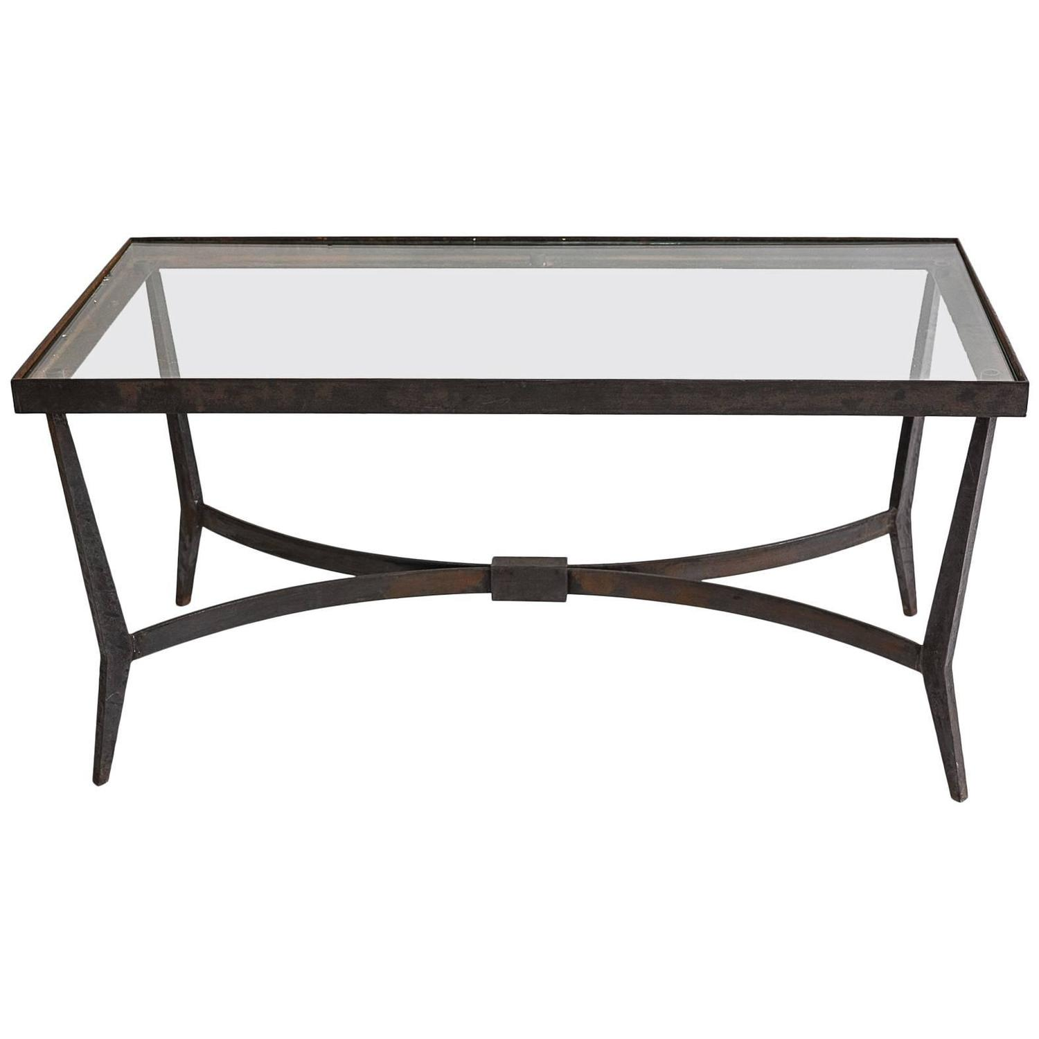 1950s wrought iron coffee table for sale at 1stdibs for Wrought iron coffee table for sale