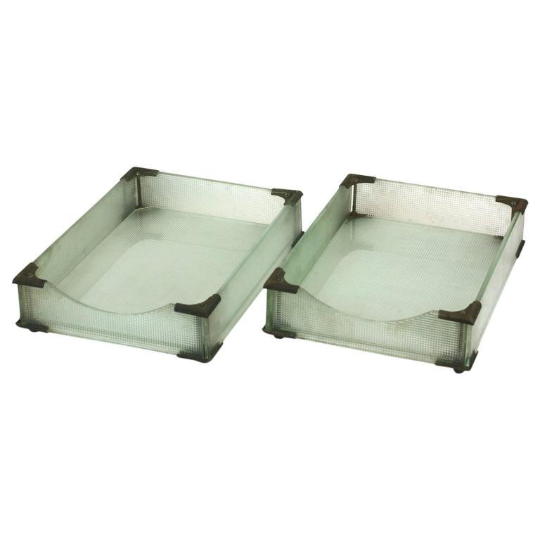 Art Deco Glass Letter Holders For Sale
