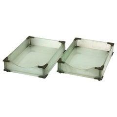 Art Deco Glass Letter Holders