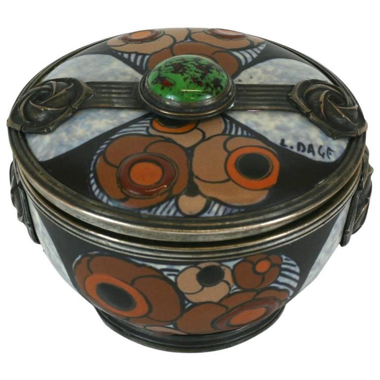 Art Deco Covered Jar, Louis Dage