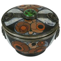 Art Deco Covered Jar, Louis Dage