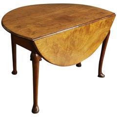 Mid-18th Century Well Figured Mahogany Pad Foot Table