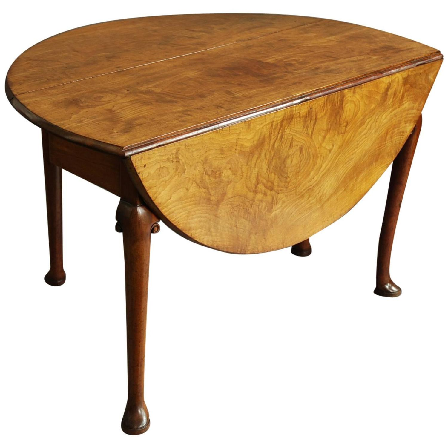 Mid 18th century well figured mahogany pad foot table for for 10 ft dining room table