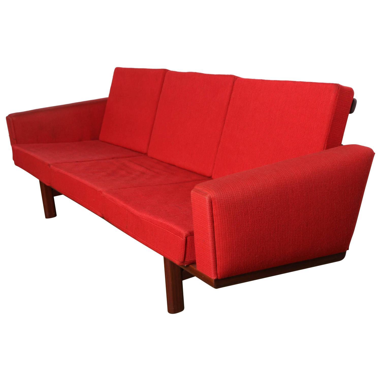 Hans Wegner Ge 236 Rosewood Sofa At 1stdibs