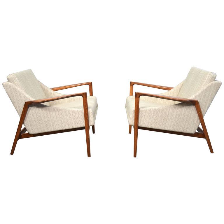 Ib Kofod Larsen Danish Modern Lounge Chairs at 1stdibs